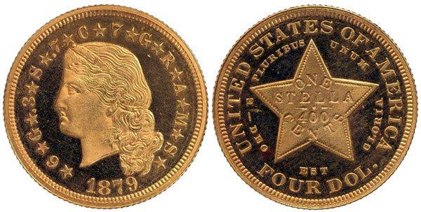 Flowing Hair Stella Gold Coin